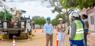 Los trabajos se están haciendo para mejorar el servicio de energía en los corregimientos de Maicao.