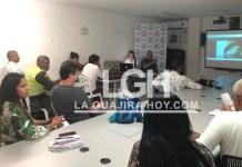 Aspecto de la sesión del Consejo Consultivo del Distrito de Riohacha.