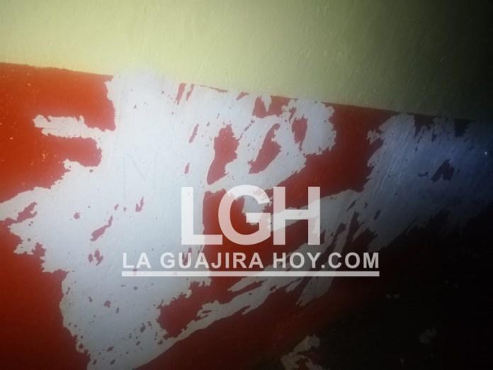 Aspecto de las paredes de las instituciones educativas de la zona rural de San Juan del Cesar.
