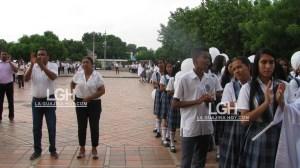 Comunidad en general de San Juan del Cesar, protestaron en la mañana de este martes, por la muerte de Elkin David Ortiz Ortega.