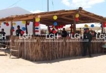Este fue el quiosco que se construyó con la madera que donó Corpoguajira con material decomisado por la Policía en arterias viales de La Guajira.
