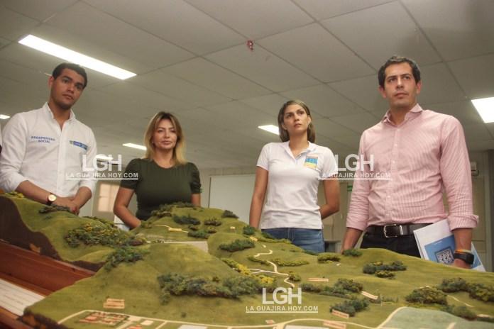 La inspección se realizó en compañía de la Contralora delegada para infraestructura física, Martha Angélica Martínez.