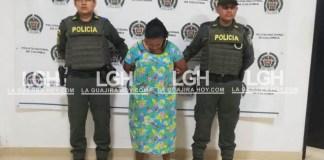 Elezandra Patricia Socarras Romero, cuando era presentada ante las cámaras de los medios de comunicación.