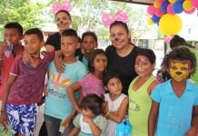 Una gran alegría se les observó a los niños, a quienes la administración distrital le festejó su Día.