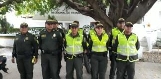 Uniformados de varias estaciones de policías realizaron campañas educativas y preventivas.
