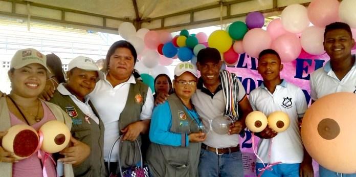 Con la presencia de las Damas Rosadas, ministerio de Deporte, institución educativa Normal Superior, se conmemoró el día mundial contra la obesidad y cáncer de mama en el municipio de San Juan del Cesar.