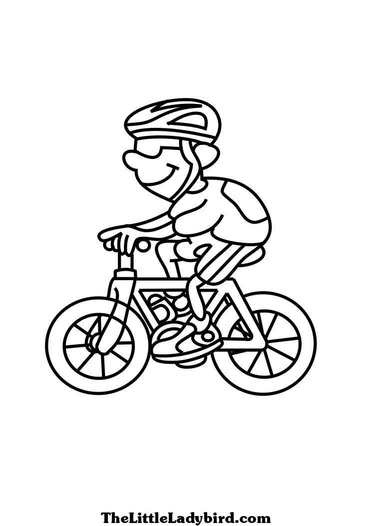 31 dessins de coloriage bicyclette à imprimer sur