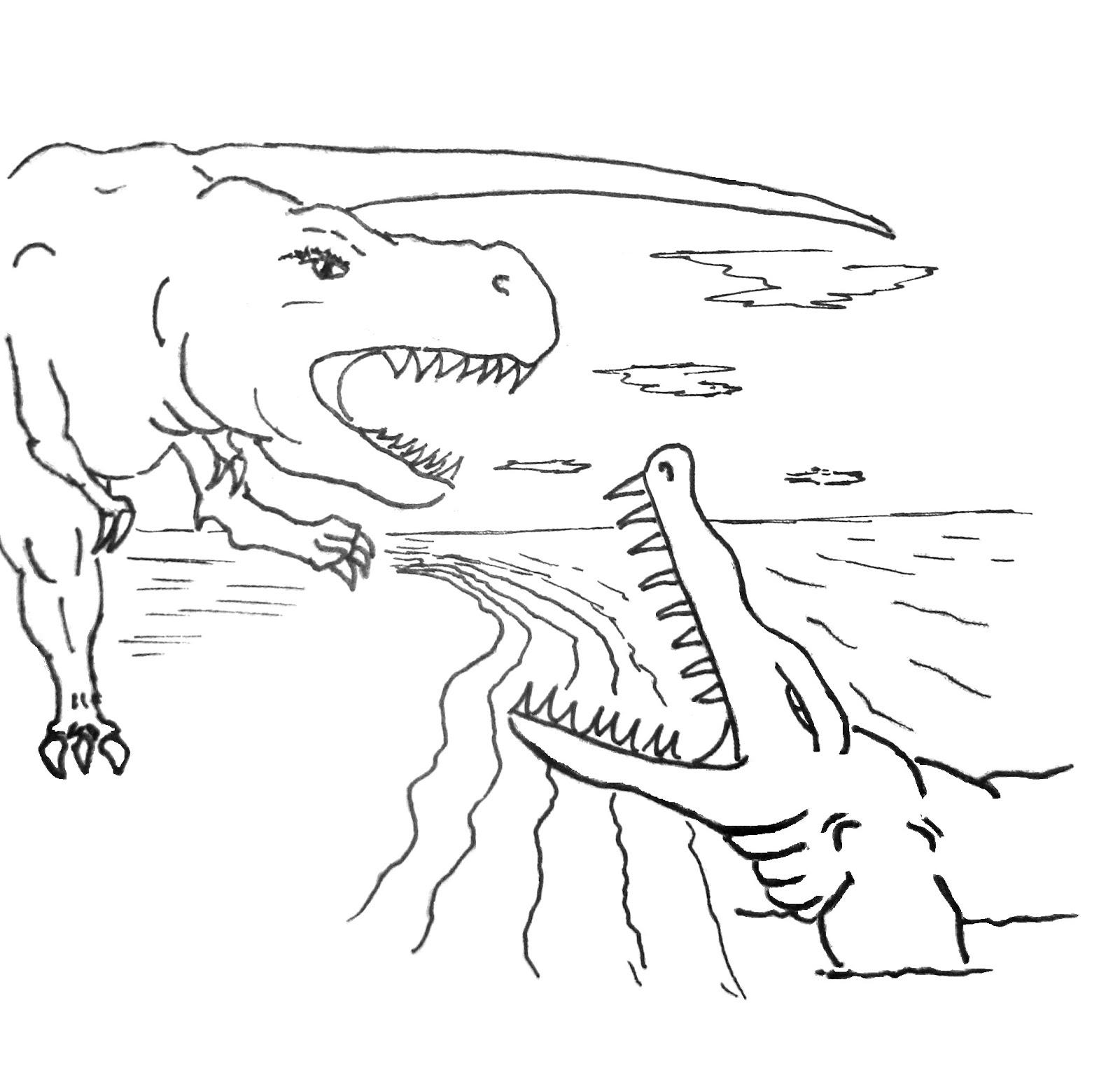 204 Dessins De Coloriage Dinosaure A Imprimer Sur