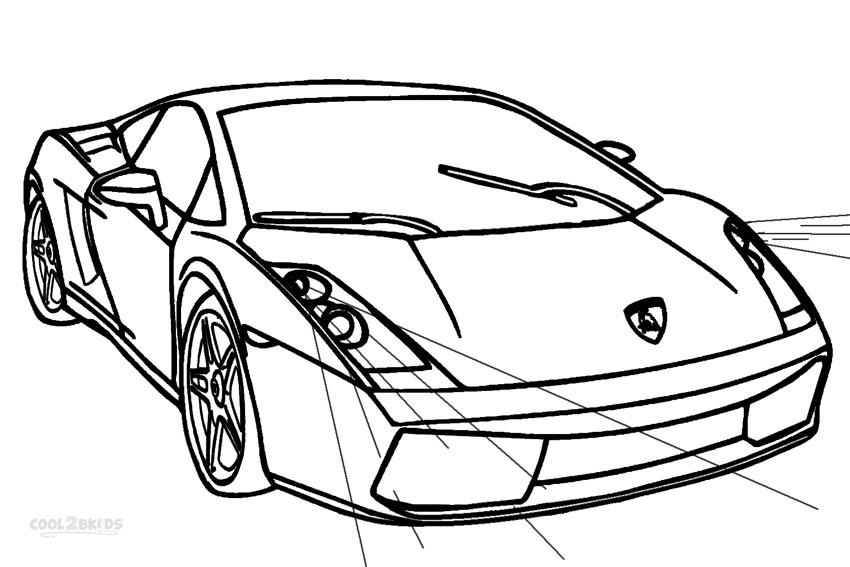 Dessin Coloriage Lamborghini A Imprimer