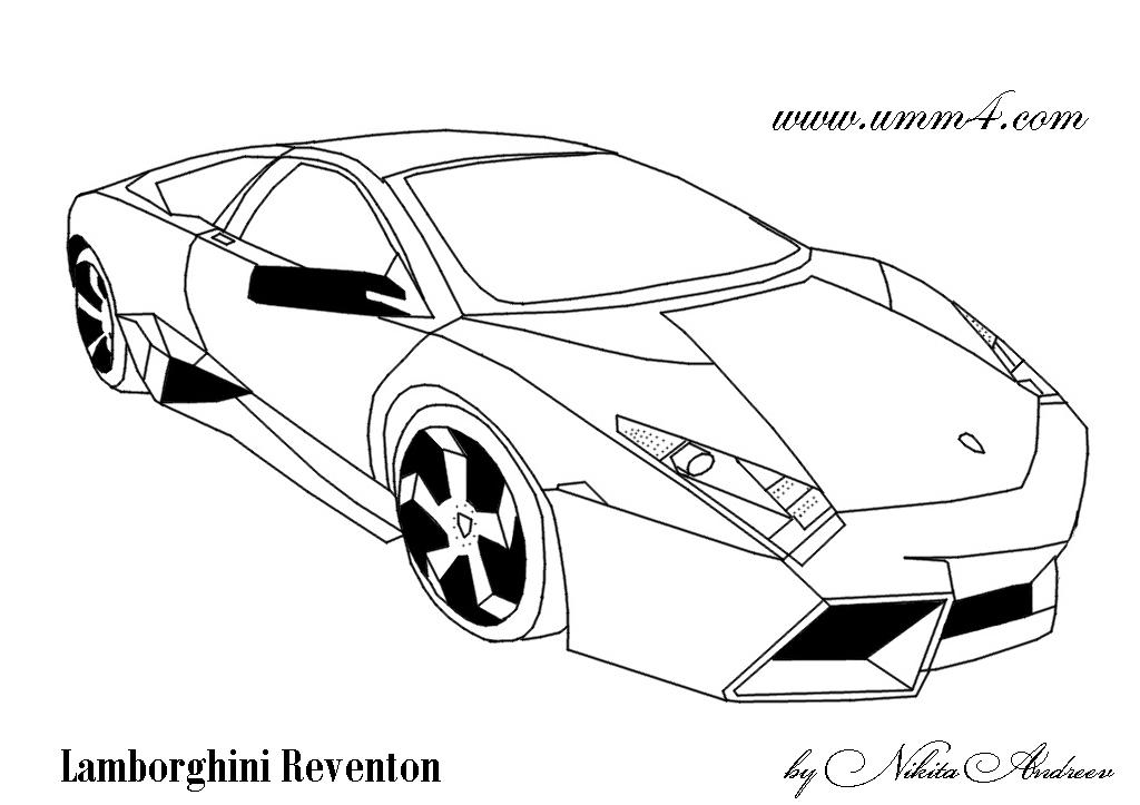 Dessin Dessin De Lamborghini A Colorier