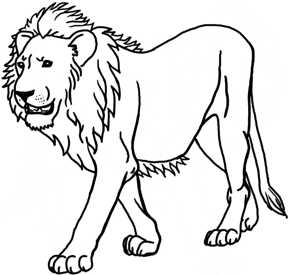 108 dessins de coloriage lion à imprimer sur LaGuerche.com