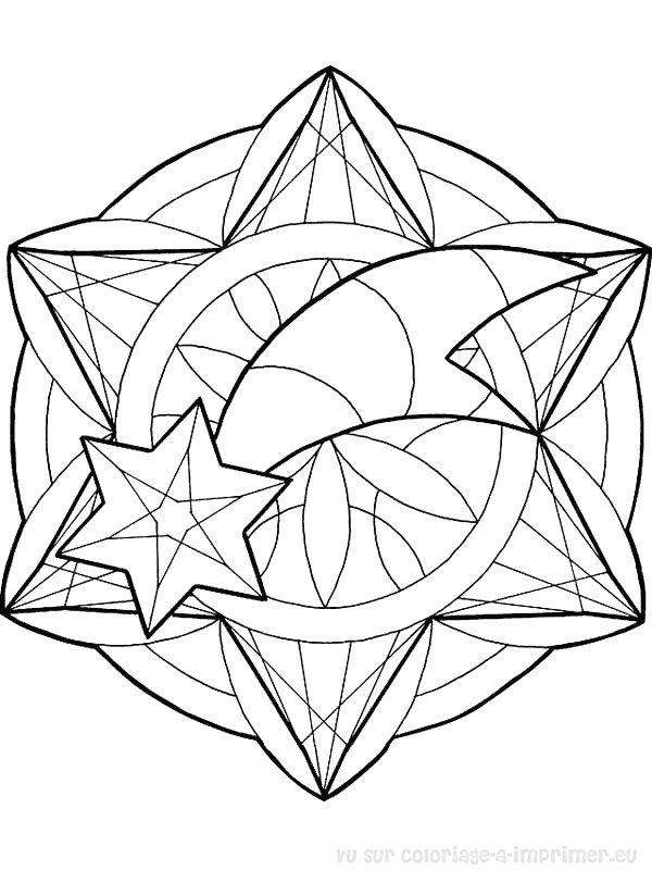 Coloriage Mandala Dessin Animes