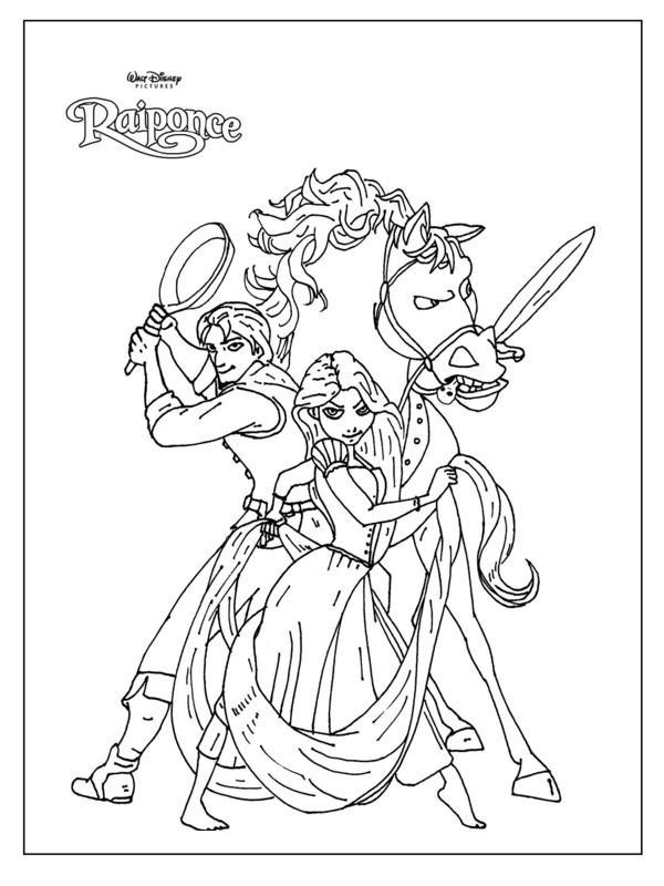 Sélection de dessins de coloriage raiponce à imprimer sur