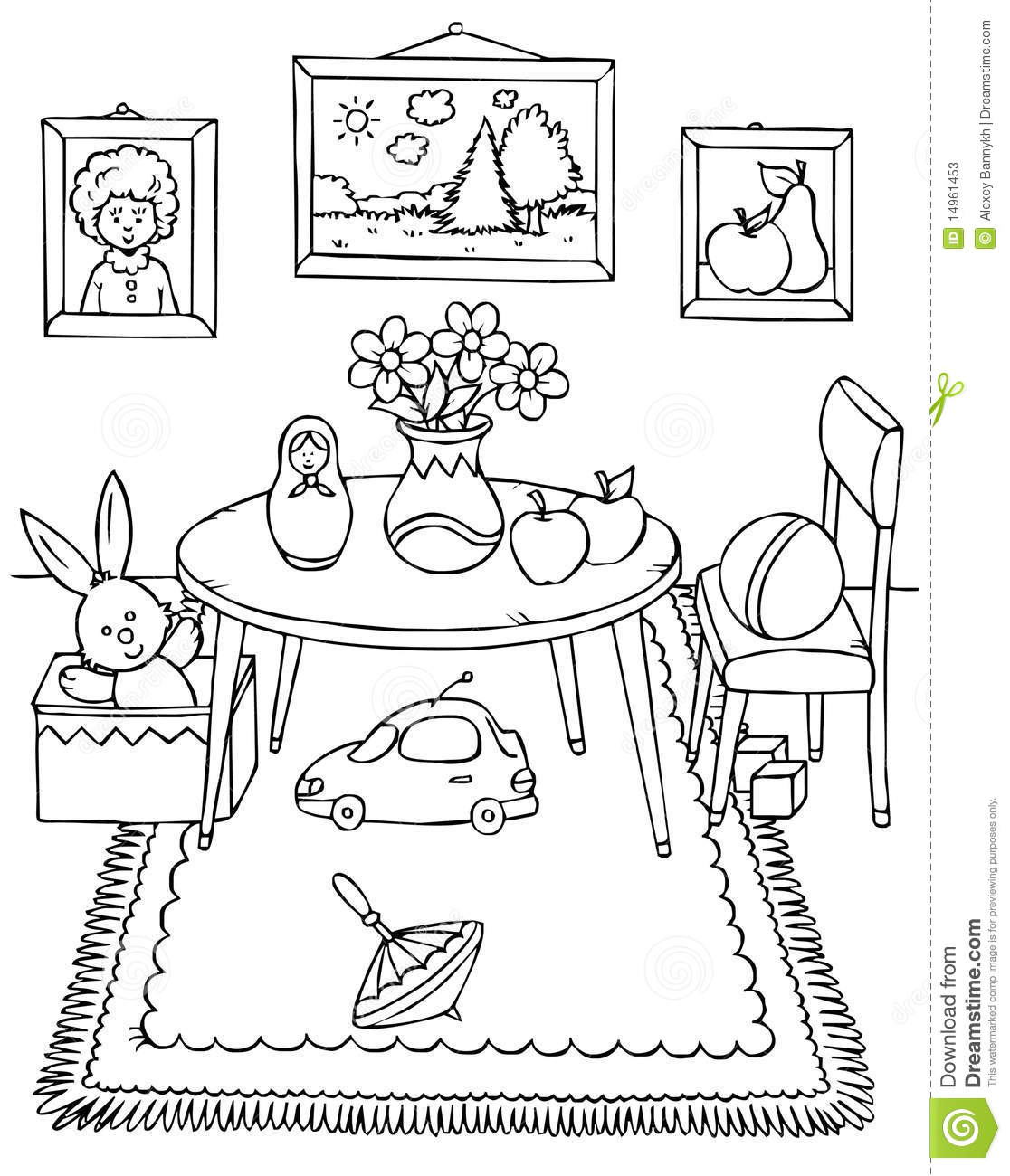 13 Dessins De Coloriage Salle A Manger A Imprimer Sur Laguerche