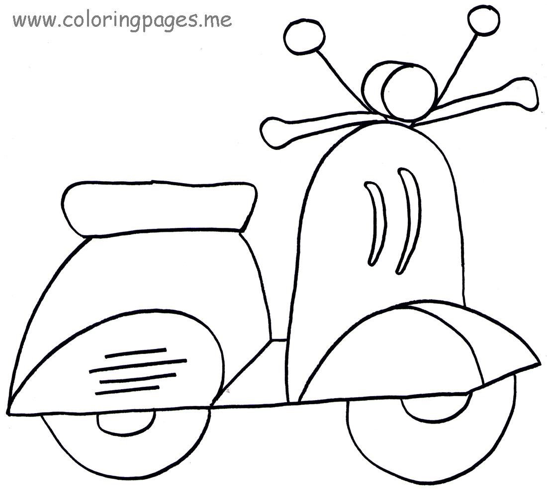 6 Dessins De Coloriage Scooter A Imprimer Sur Laguerche