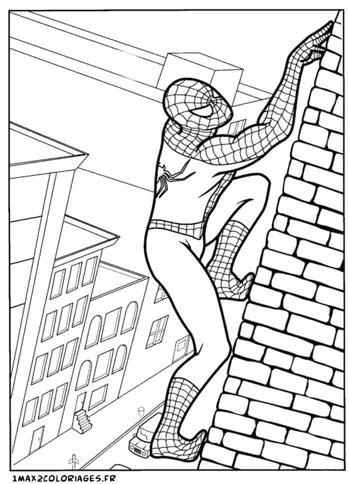 167 dessins de coloriage spiderman à imprimer sur