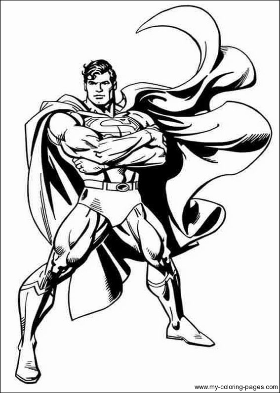 Superman Coloring Page Superhero Coloring Page