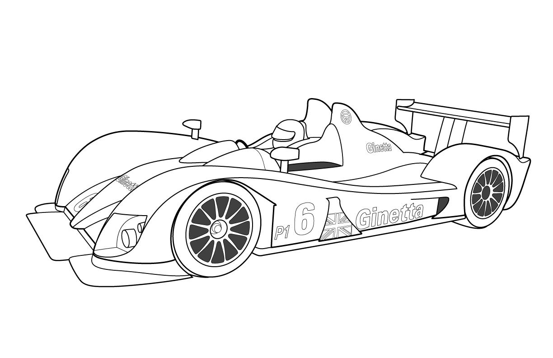 Coloriage chiffre voiture de course - Voiture de course coloriage ...