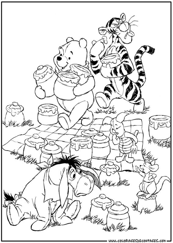 103 dessins de coloriage winnie à imprimer sur LaGuerche