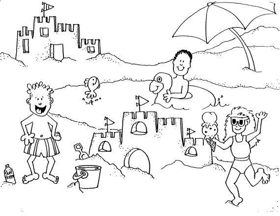 56 dessins de coloriage plage à imprimer sur LaGuerche.com