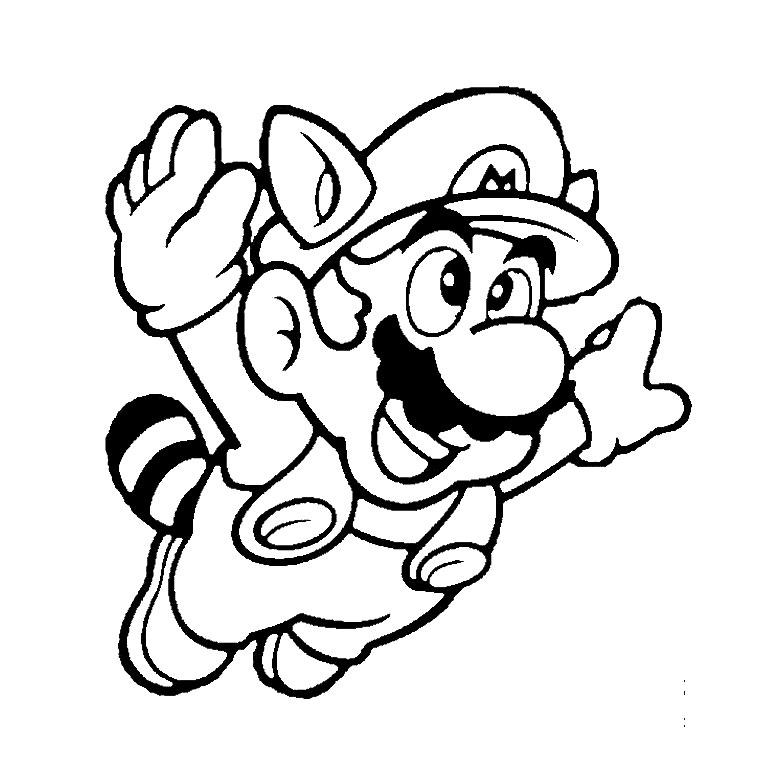 80 dessins de coloriage Super Mario Bros à imprimer sur