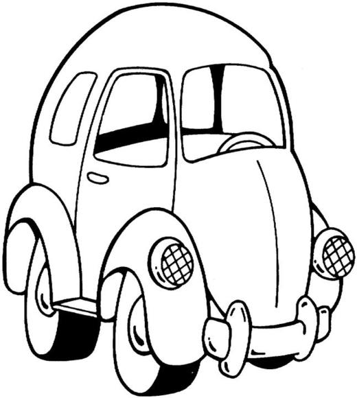21 dessins de coloriage voiture enfant à imprimer sur