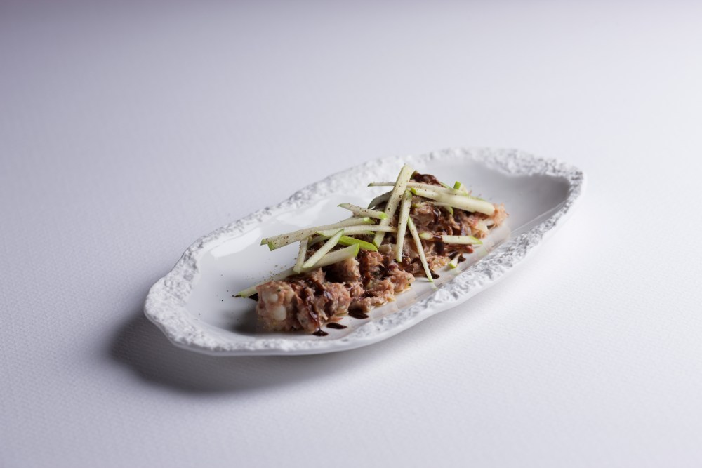 Ensaladilla de confit de pato, col asada, salsa hoisin y manzana verde.jpg