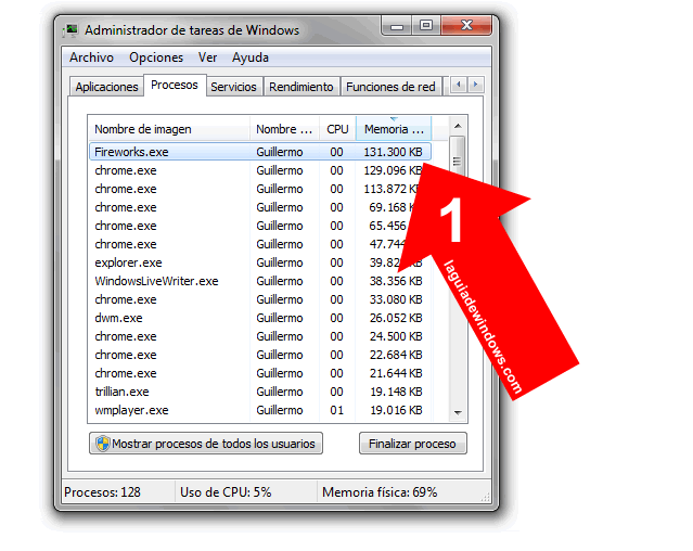Establecer prioridad CPU en Windows 7