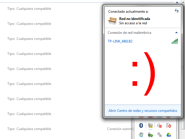 X roja en Wi Fi Windows