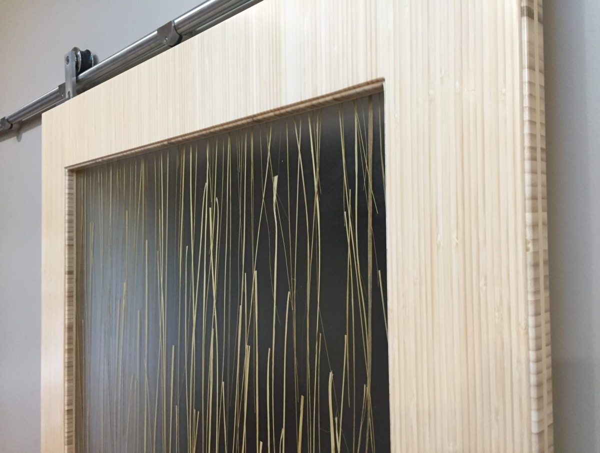 Bamboo barn door slider