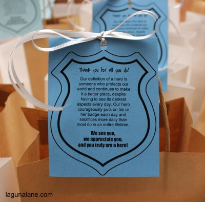 Police Appreciation Bags Free Printable | LagunaLane.com