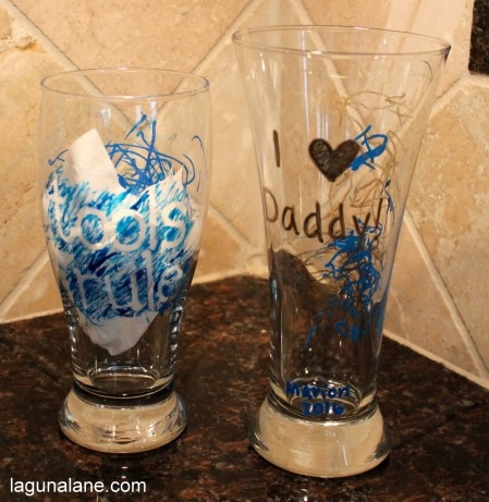 Father's Day DIY Pint Glasses | Laguna Lane