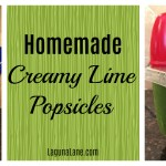 Homemade Creamy Lime Popsicles for Summer