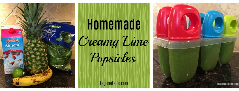 Homemade Popsicles - Creamy Lime | Laguna Lane