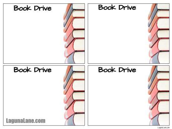 Book Drive Free Flyer Printable | Laguna Lane
