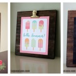 DIY Custom Wooden Clipboard Frame
