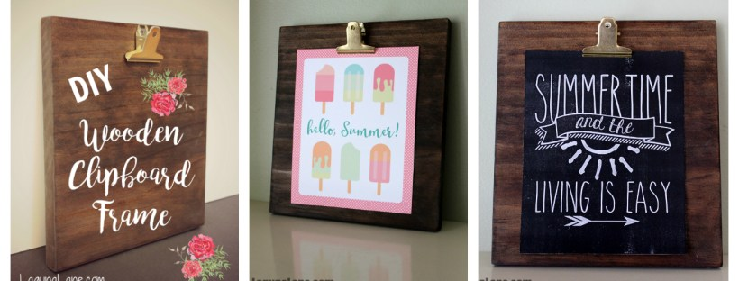 DIY Wood Photo Clipboard - collage | Laguna Lane
