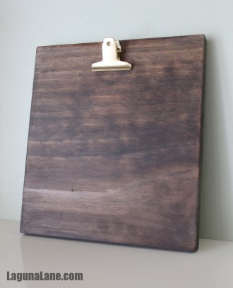 DIY Wood Photo Clipboard - Finished Product | Laguna Lane