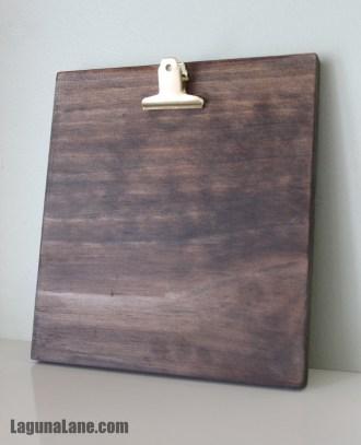 DIY Wood Photo Clipboard - Finished Product | Laguna Lane