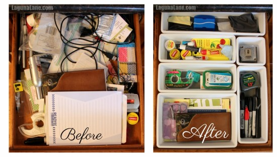 Organize Your Drawers - Before & After 1 | Laguna Lane