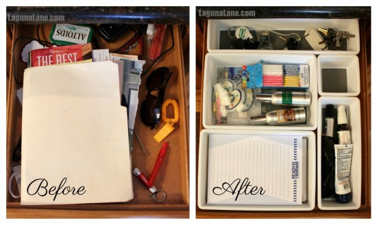 Organize Your Drawers - Before & After 2 | Laguna Lane