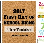 First Day of School Sign – 7 Free Printables!
