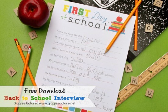 Giggles Galore Back to School Interview | Laguna Lane