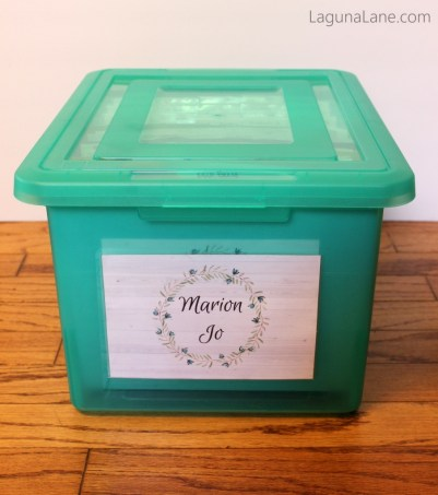 Keepsake Bin for Children's Artwork | Laguna Lane