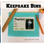 Keepsake Bins – Organize & Store Your Child's Artwork with Free Printables!