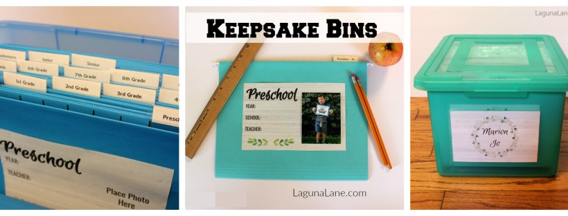 Keepsake Bins - Organize & Store Children's Artwork | Laguna Lane
