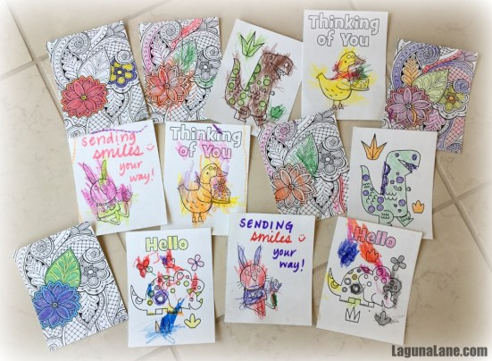 Colored Cards for Nursing Home Service Project | Laguna Lane