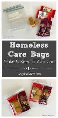 Homeless Care Bags - Make & Keep in Your Car! | Laguna Lane