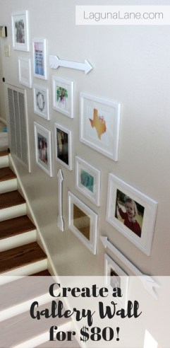 Budget Gallery Wall - Complete the whole project on a budget of $80! | Laguna Lane