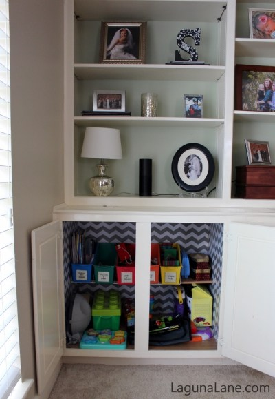 Toy Organization - Use Those Built-Ins! | Laguna Lane